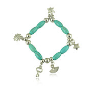 The New Bohemia Turquoise Beaded Key Sector Star Elements Bracelet