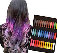 36 colori pastelli gesso temporanee per capelli pastelli tintura dei capelli non tossici bastone strumenti per lo styling fai da te