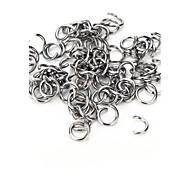 vilam®10 pezzi in lega di zinco 8 mm ganci molto duri utilizzati per il collegamento di gioielli