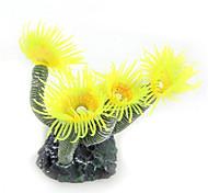 Decoración de Acuario Flor Artificial Plástico