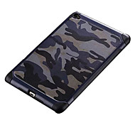Camouflage PU leather Shockproof  soft TPU Silicone case for Ipadmini4