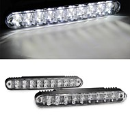 2 X Carchet 30 Led Car Vehicle Daytime Running Light Lamp White+Yellow