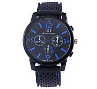Men's Fashion Big Dial Number Quartz Analog Leather Band Sport Arm Wrist Watch(Assorted Colors) Cool Watch Unique Watch