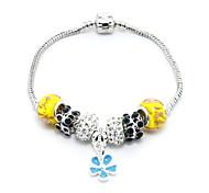 Women With Yellow Chamilia Beads DIY Jewelry Fashion Brecelet