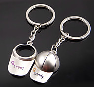 A Pair Lovers Sport Cap Keychains, Valentine'S Day Gift