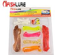 Afishlure Soft Bait Set Lure Packs 20pcs/lot 1g 4cm/1.1g 5,5cm/3.1g 8cm Random Colors Plastic Fishing Lure Suit