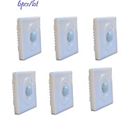 Jiawen 6pcs/lot Optically-Controlled  LED Human Body Inductive Motion Sensor Wall Switch