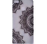 Diagonal Flower Pattern Transparent TPU Material Soft Phone Case for Huawei Ascend P9/Ascend P9 Lite