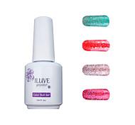 ILuve Gel Nail Polish Set - Pack Of 4 - Long Lasting 3 Weeks Soak Off UV Led Gel Varnish – For Nail Art #4029