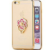 4.7Fashion Plating Phone Cases For iphone 6 Case For iphone6 6s 6 Luxury Metal Bling Diamond Ring Stand Back Cover