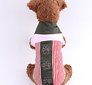 Lovely Embroidery Paw Print Pet Shirt