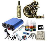 Basekey Tattoo Kit JH572  1 Machine With Power Supply Grips 3x10ML Ink