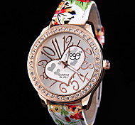 Women's Fashion Heart-Shaped Quartz Watch Leather Band with Brick