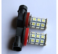 H1/H3/H4/H7/H8/H11/9005/9006 5050-27SMD   Car Fog Light White Blue Red Yellow