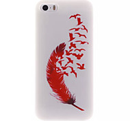 Red Feather IMD+TPU Back Cover Case iPhone SE iPhone 5 iPhone 5S
