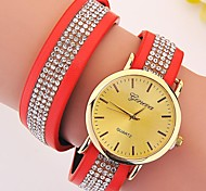 Ladies' Watch Geneva  Set Auger PU Fashion Korea Leather Watch