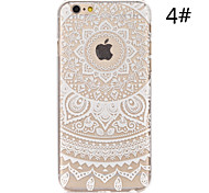 For iPhone 6 Case / iPhone 6 Plus Case Transparent / Pattern Case Back Cover Case Lace Printing Hard PCiPhone 6s Plus/6 Plus / iPhone