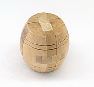 Fashion Wood Cask Style Puzzle Unlock Loop Decompression Toys