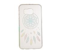teste padrão colorido coletor ideal TPU soft case para Samsung Galaxy S6 / S6 EDGE EDGE / S6 mais