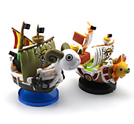 2PCS One Piece Going Merry 5CM THOUSANDS OF SUNNY Pirate Ship  PVC Anime Action Figures Doll Toys