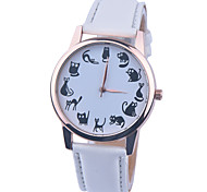 Brand New Ladies Cute Cartoon Watches Cat Quartz Watch for Girls, Boys, Kids Casual Leather Wristwatch Relogio Feminino