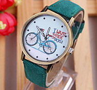 Ladies Bike Design Belt Quartz Watch Fashion And Personality
