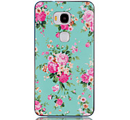 2-in-1 Peony Rose Flower Pattern TPU Back Cover with PC Bumper Shockproof Soft Case for Hawei Honor 5X