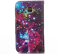 Meteoric Sky PU leather with Stand Case for Samsung G360