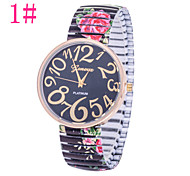 Ladies' Fashion Watch Pastoral Style Floral Drawstring Steel Quartz Watch