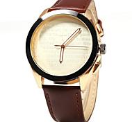 Herren Armbanduhr Quartz Leder Band Schwarz / Braun Marke-