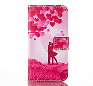 Red Love Painted PU Phone Case for Galaxy  S7/ S7edge /S7 plus