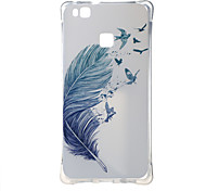 For Huawei Case Shockproof / Pattern Case Back Cover Case Feathers Soft TPU Huawei