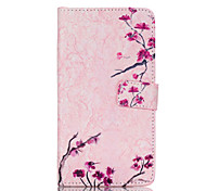 Beautiful flowers Pattern PU Leather Case with Money Holder Card Slot for Galaxy Note 4/Galaxy Note 5