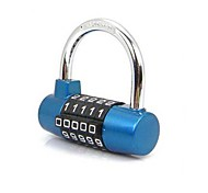 Resettable 5 Digit Combination Travel Luggage Suitcase Password Lock Padlock Random Colors