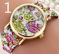 relógio de mesa moda floral pano lenço temperamento pulseira quartzo relógio de senhora