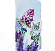 Butterfly Painted PU Phone Case for iphone 6/6S/6plus/6splus