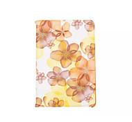 caso de 360 grados hermosa flor de durazno de la PU de cuero cubierta de la tapa para el aire iPad (colores surtidos)
