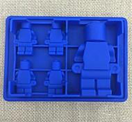 5 grades bandeja de cubos de gelo molde robô silicone de chocolate fabricante de moldes de sorvete utensílios de cozinha DIY