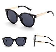 100% UV400 Round Fashion Wood Lines Mirrored Sunglasses