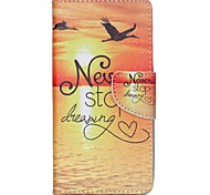 For Acer Case Card Holder / with Stand / Flip / Pattern Case Full Body Case Scenery Hard PU Leather for Acer