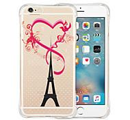 Eiffel amo parte traseira do silicone estojo transparente para iphone 6 / 6s (cores sortidas)