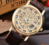 Men's Fashionable  Wrist Mechanical Watches Leather Band