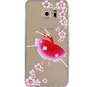 Dancing Girl Pattern Slim Relief TPU Material Phone Case for Samsung Galaxy S5/S6/S7/S6 edge/S6 edge+/S7 edge/S7 Plus