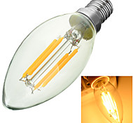 Marsing E14 400lm 3000/6500K 330-Degree Beam Angle Aluminum Alloy + Glass 4-COB LED Filament Lamp