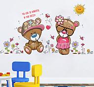 niedlichen Bären Paar Bär Wandaufkleber