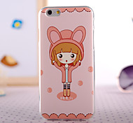 Cartoon Bunny Girl Design Back Cover Case for IPhone 6 Iphone6S