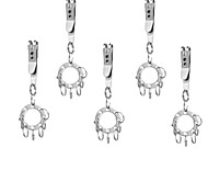 FURA Multifunctional Clip + UFO Expanding Key Ring with 8-Ring for Travelling / Camping - Silver(5PCS)
