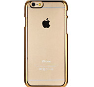 Gold Plating Transparent PC Back Case for iPhone 6/6S