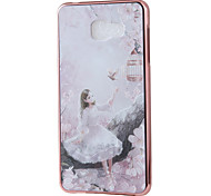 Princess Mirror Surface Relief Frame TPU for Samsung A7(2016)