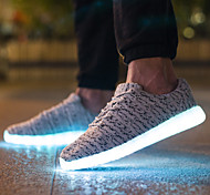 LED Shoes Unisex 38-46 Men's Shoes Athletic / Casual Tulle Fashion Sneakers / Athletic Shoes Black / Red / Gray
